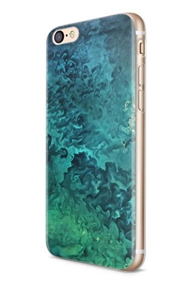 Lopard Apple İphone 6 6S Kılıf Mavi Yeşil Plazma Kapak Renkli